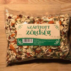 szárított zöldség